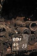 old mouldy bottles chalk board domaine doudet naudin savigny-les-beaune cote de beaune burgundy france