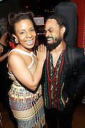 May 19, 2016-Brooklyn, NY: United States- (L-R) New York City Council Member Laurie Cumbo, Founder. MOCADA and Recording Artist Bilal attend the 2nd Annual (Museum of Contemporary African Diasporic Art (MoCADA) Masquerade Ball held at the Brooklyn Academy of Music on May 19, 2016 in Brooklyn, New York. (Terrence Jennings/terrencejennngs.com)