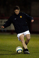 Photo: Jed Wee.<br /> Manchester United Reserves v Bolton Wanderers Reserves.<br /> 15/12/2005.<br /> <br /> Manchester United's Ole Gunnar Solskjaer continues his rehabilitation from injury.