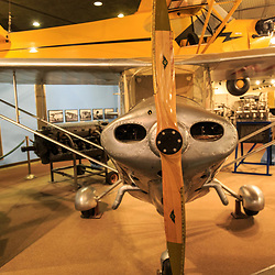 The Piper Aircraft, which were manufactured for decades in in Lock Haven, Pennsylvania, is on display at the State Museum in Harrisburg, PA.