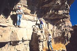 John Welch, Richard Lang & Charlie On Cliff Dwelling, Mustang Ridge, Apache Reservation