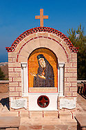 Memorial to Ayios (Saint) Nektarios who died on Aegina in 1921. Greek Saronic Islands .<br /> <br /> If you prefer to buy from our ALAMY PHOTO LIBRARY  Collection visit : https://www.alamy.com/portfolio/paul-williams-funkystock/aegina-greece.html <br /> <br /> Visit our GREECE PHOTO COLLECTIONS for more photos to download or buy as wall art prints https://funkystock.photoshelter.com/gallery-collection/Pictures-Images-of-Greece-Photos-of-Greek-Historic-Landmark-Sites/C0000w6e8OkknEb8
