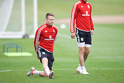 CARDIFF, WALES - Saturday, June 4, 2016: Wales' Chris Gunter during a training session at the Vale Resort Hotel ahead of the International Friendly match against Sweden. (Pic by David Rawcliffe/Propaganda)
