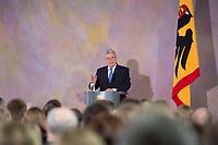 22 FEB 2013, BERLIN/GERMANY:<br /> Joachim Gauck, Bundespraesident, haelt eine Rede zu Europa, Schloss Bellevue<br /> IMAGE: 20130222-02-025<br /> KEYWORDS: Europarede, speech, Europe, Bellevue Forum