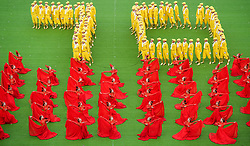 Aug. 8, 2017 - Hohhot, China - Dancers perform during the celebration marking the 70th anniversary of the Inner Mongolia Autonomous Region in Hohhot, north China's Inner Mongolia Autonomous Region. (Credit Image: © Lian Zhen/Xinhua via ZUMA Wire)