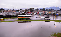 South Africa - Cape Town -  10 July 2020 -Cars navigate their way throough flooded N2 near Nyanga. The cold and poor weather conditions on Friday  caused havoc across Cape Town, with various informal settlements across the city having been affected.Photographer Ayanda Ndamane African News Agency(ANA)