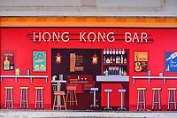 Chine, Hong Kong, Hong Kong Island, peinture murale à Central // China, Hong Kong, Hong Kong Island, wall painting in Central