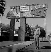 """0301-404 """"Phipps Bray. Lazy A Motel, March 21, 1957"""" (2635 East Van Buren, Phoenix, Arizona.)"""