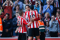 Goal, Southampton's Virgil van Dijk scores, Southampton 1-0 Swansea City - Mandatory by-line: Jason Brown/JMP - 07966 386802 - 26/09/2015 - FOOTBALL - Southampton, St Mary's Stadium - Southampton v Swansea City - Barclays Premier League