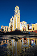 The Xalapa Cathedral on the Plaza Lerdo at the historic center of Xalapa, Veracruz, Mexico.