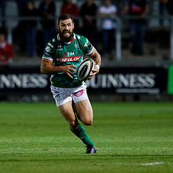 Benetton Treviso's Jayden Hayward<br /> <br /> Photographer Simon King/Replay Images<br /> <br /> 1 Round 1 - Dragons v Benetton Treviso - Saturday 1st September 2018 - Rodney Parade - Newport<br /> <br /> World Copyright © Replay Images . All rights reserved. info@replayimages.co.uk - http://replayimages.co.uk