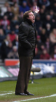 Photo: Alan Crowhurst. <br /> Southampton v Arsenal, 26/02/2005, Barclays Premiership. Southampton manager Harry Redknapp blasts out the orders.