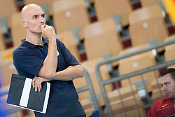 Zharko Ristoski, head coach of FYR Macedonia during volleyball match between National Teams of Slovenia and FRY Macedonia of 2014 CEV Volleyball European League Man - Pool B, on July 5, 2014, in Arena Ljudski vrt Lukna, Maribor, Slovenia, Slovenia. Photo by Urban Urbanc / Sportida