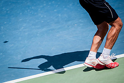 Shadow of tennis player during football match between FC Koper (SLO) and Celik Niksic (MNE) in 2nd Leg of 1st Round of Qualification UEFA Europa League 2015 on July 10, 2013 in Bonifika, Koper, Slovenia. Photo by Urban Urbanc / Sportida