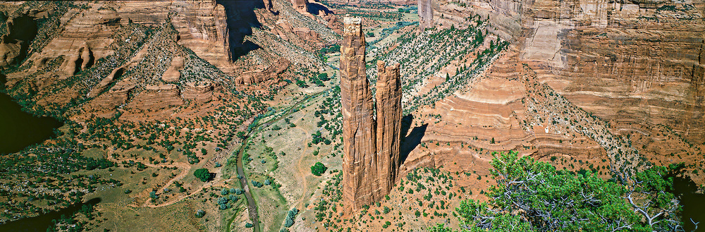 Spider Rock in Canyon de Chelley National Monument on the Navajo Reservation in northern Arizona