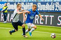 Fotball , Eliteserien , 28 Mai 2017 , Molde - Stabæk , Sander Svendsen i duell med Tonny Brochmann<br /> <br />  , Foto: Marius Simensen, Digitalsport