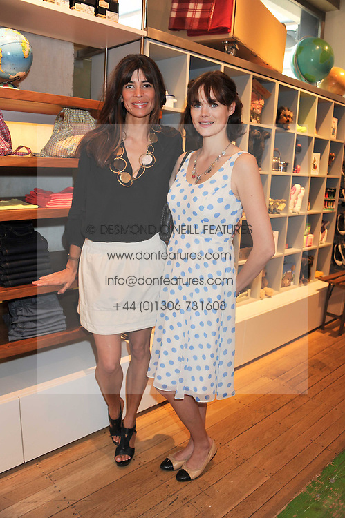 Left to right,  JASMINE GUINNESS and LISA BILTON at a ladies lunch in aid of Mothers4Children hosted by Carmelbabyandchild at 259 Pavillion Road, London SW1 on 30th June 2011.