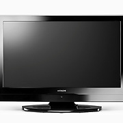 An Hitachi LCD television product photographed in the Hype photography studio by professional photographer Stuart Freeman.