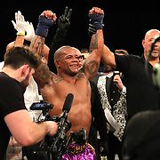 FORT LAUDERDALE, FL - FEBRUARY 16: Hector Lombard celebrates his victory over David Mundell during the Bare Knuckle Fighting Championships at Greater Fort Lauderdale Convention Center on February 16, 2020 in Fort Lauderdale, Florida. (Photo by Alex Menendez/Getty Images) *** Local Caption *** Hector Lombard; David Mundell