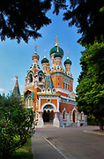 Cathedrale Russe (Russian Cathedral) in Nice, France