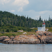 Pea Point Lighthouse, in Blacks Harbour, New Brunswick, Canada. Photo by William Drumm.
