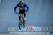 #3 (ANDRE Sylvain) FRA  at Round 9 of the 2019 UCI BMX Supercross World Cup in Santiago del Estero, Argentina