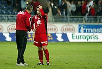Fotball, eliteserien, 13/06-2005, Viking Stadion,<br /> Viking - Brann,<br /> Martin Andresen og Mons Ivar Mjelde,<br /> Foto: Sigbjørn Andreas Hofsmo