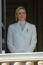 Princess Charlene of Monaco is attending on the balcony during the National Day ceremonies, Monaco Ville (Principality of Monaco), on November 19th, 2019. Photo by Marco Piovanotto/ABACAPRESS.COM