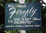 Firefly - Noel Coward's Firefly Jamaica - signage
