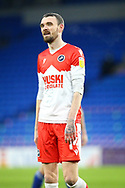 Millwall's Scott Malone (14) in action during the EFL Sky Bet Championship match between Cardiff City and Millwall at the Cardiff City Stadium, Cardiff, Wales on 30 January 2021.