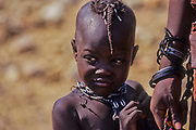 Himba male child in a Himba village, Kaokoveld, Namibia, Africa