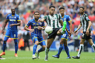 Curtis Nelson of Plymouth Argyle in action.Skybet football league two play off final match, AFC Wimbledon v Plymouth Argyle at Wembley Stadium in London on Monday 30th May 2016.<br /> pic by John Patrick Fletcher, Andrew Orchard sports photography.