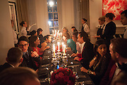 Veronica Moncho Lobo dinner. Argentinian fashion designer hosts i pre-BAFTA dinner with  style editor Sophie Goodwin, to showcase her line of red carpet gowns. Albert Hall Mansions. London. SW7