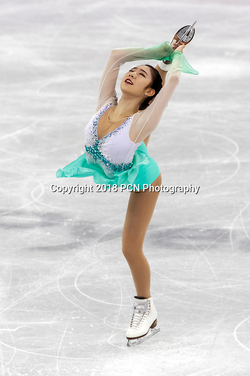 Dabin Choi (KOR) during the Figure Skating Team Singles competition at the Olympic Winter Games PyeongChang 2018