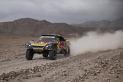 MOQUEGUA, Jan. 12, 2019  French driver Sebastien Loeb and Monaco co-driver Daniel Elena compete during the 5th stage of the 2019 Dakar Rally Race, near Moquegua, Peru, on Jan. 11, 2019. Sebastien Loeb and Daniel Elena ranked 1st of the 5th stage with 4 hours 56 minutes and 34 seconds. (Credit Image: © Xinhua via ZUMA Wire)