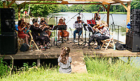 The Real String Orchestra at the Also Festival 2021 at Cpmton Verney,photo by Mark Anton Smith<br /> .