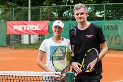 Kaja Juvan and Tomaz Berlocnik at Petrol VIP tournament 2018, on May 24, 2018 in Sports park Tivoli, Ljubljana, Slovenia. Photo by Vid Ponikvar / Sportida