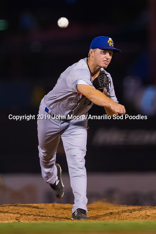 Amarillo Sod Poodles pitcher Evan Miller (17) pitches against the Tulsa Drillers during the Texas League Championship on Friday, Sept. 13, 2019, at OneOK Field in Tulsa, Oklahoma. [Photo by John Moore/Amarillo Sod Poodles]