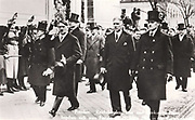 Franz von Papen zu Köningen (1879–1969) German aristocrat, politician and Roman Catholic monarchist. Served as Chancellor of Germany in 1932 and as Vice-Chancellor in 1933-1934. Here with Adolf Hitler in March 1933.