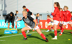 Jasmine Matthews of Bristol City warms up - Mandatory by-line: Nizaam Jones/JMP - 27/10/2019 - FOOTBALL - Stoke Gifford Stadium - Bristol, England - Bristol City Women v Tottenham Hotspur Women - Barclays FA Women's Super League