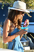 "Alessandra Ambrosio with her children at a carnival<br /> <br /> Alessandra Ambrosio attends the "" Malibu Carnival  "" in Hollywood. She purchased a little fish and her daughter Anja received a pink stuffed pig. Hollywood, California<br /> ©Exclusivepix Media"