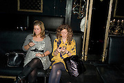 SARAH ERICKSON AND CHARMAINE PETERSON, Vanessa Miedler birthday party. Dolce. Air St. London. 310108. *** Local Caption *** -DO NOT ARCHIVE-© Copyright Photograph by Dafydd Jones. 248 Clapham Rd. London SW9 0PZ. Tel 0207 820 0771. www.dafjones.com.
