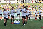 The New Zealand Football Ferns warm up at the Cup of Nations Women's Football match, New Zealand Football Ferns v Matildas, Leichhardt Oval, Thursday 28th Feb 2019. Copyright Photo: David Neilson / www.photosport.nz