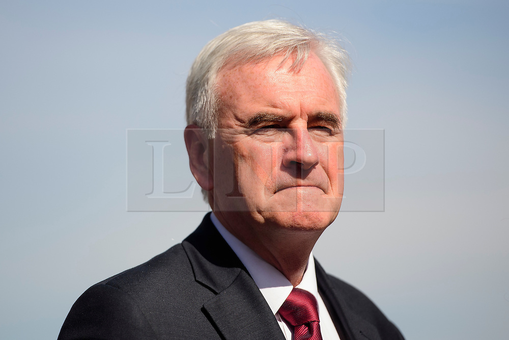 © Licensed to London News Pictures. 13/09/2016. London, UK.  Shadow ChancellorJOHN MCDONNELL attends a rally outside the Parliament in London for the Orgreave Truth and Justice Campaign, which calls for a public inquiry into the June 1984 confrontation between police and pickets at the British Steel Corporation coking plant in Orgreave, South Yorkshire. Photo credit: Ben Cawthra/LNP