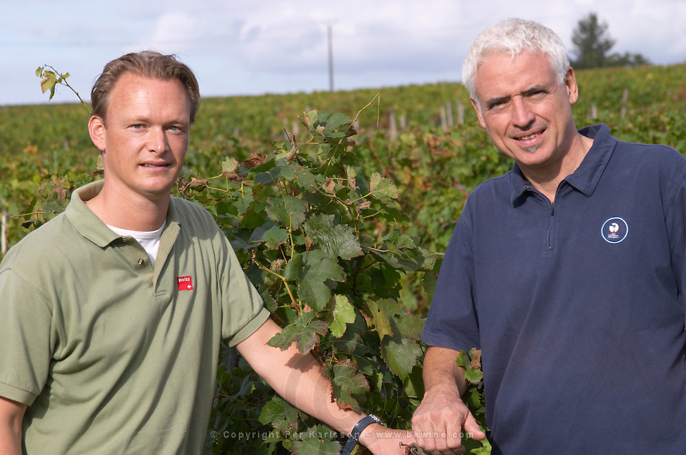 Arjen Pen, manager and winemaker, and business partner. Chateau Richelieu, Fronsac, Bordeaux, France