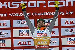 February 9, 2019 - Are, Sweden - KJETIL JANSRUD of Norway on the podium after winning the Men's Downhill ski race at the FIS Alpine World Ski Championships in Are Sweden. (Credit Image: © Christopher Levy/ZUMA Wire)