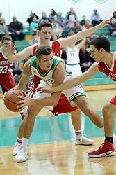 8 December 2017: #41  Boys High School BASKETBALL: Jacksonville Crimson v  Normal University High Pioneers at University High in Normal Illinois
