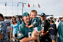 Philadelphia Eagles fans dressed in their jerseys during the Philadelphia Eagles NFL Flight Night at Lincoln Financial Field in Philadelphia, Pennsylvania on Sunday August 2nd 2009. (Photo by Brian Garfinkel)
