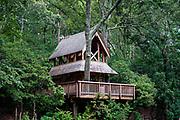Tree house, Hidden Hollow, Heritage Museums and Gardens, Sandwich, Massachusetts, USA