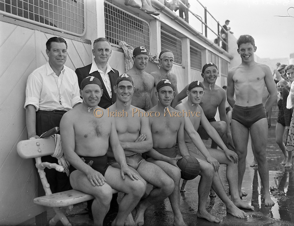 113/8/1955<br /> 8/13/1955<br /> 13 August 1955<br /> Ulster v Leinster Interprovincial Water Polo at the Blackrock Baths, Dublin.